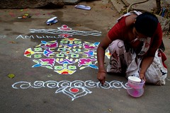 20 (akila venkat) Tags: street art colours patterns bangalore rangoli indianart