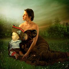 Waiting for Daddy (jaci XIII) Tags: 2 children mother paisagem família criança landescape mãe d1de9bj