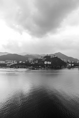 As above, so below /  Serenity / SML.20130318.7D.35682.BW (See-ming Lee  SML) Tags: china sea urban blackandwhite hk mountains nature water clouds cn landscape photography hongkong blackwhite serenity     cuhk     hkg cloudscape shatin  newterritories univesity     canon1740f4l   maonshan  ccby