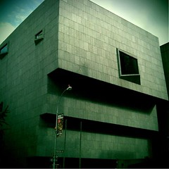Whitney Museum of American Art, New York (grecomic) Tags: newyorkcity newyork art architecture manhattan modernism cellphone mobilephone artmuseum modernistarchitecture madisonavenue whitneymuseum modernist newyorkny marcelbreuer urbian retrocamera fudgecan