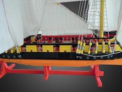 Midt closeup (anders t2012) Tags: flickr ship lego sails danish copper rigging skib brig warship dansk napoleonic hdms mocpages lougen