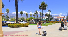 A Rail Road Platform With A Picturesque Backdrop......Santa Barbara, California.... (Sunciti _ Sundaram's Images + Messages) Tags: california road santa travel usa trekking star nikon platform rail barbara coastal transportation 1001nights pacificcoast nikon5000 blueribbonwinner anawesomeshot brillianteyejewel awesomescenery brilliantphotography artofimages