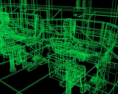What a virtual simulation might look like while under construction.