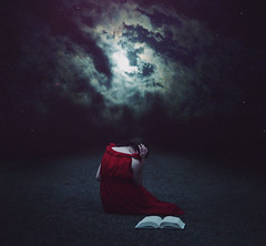 A story left untold. (Deltalex.) Tags: moon girl loss stars book path atmosphere story finished tale mourn deltalex storyleftuntold
