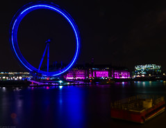 London Eye (frederic jon) Tags: nightphotography london westminster londoneye riverthames embankment waterloobridge