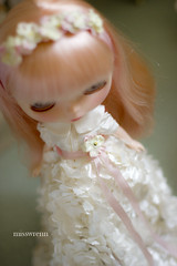 finished today (JennWrenn) Tags: doll handmade silk blythe gown mim ruffled 2013 stellasavannah blythefest