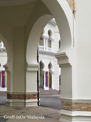 Indo-Saracenic Architecture (arch detail), Raja Road, Kuala Lumpur, Selangor (geoff-inOz) Tags: detail building heritage architecture colonial arches historic malaysia kualalumpur kl selangor malaya