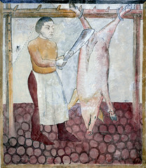 November - Slaughtering the pig (petrus.agricola) Tags: santa november del de switzerland pig ticino die with suisse maria months castello travaux slaughtering ciclo frescoes labors mesi mesocco monatsbilder lanne