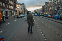 30 March, 19.22 (Ti.mo) Tags: street people holland netherlands amsterdam iso200 tram 24mm tramstop 24mmf14 0ev  secatf14