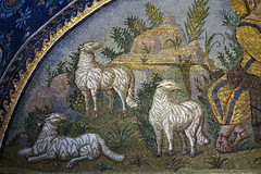 Left detail, Good Shepherd lunette, The Mausoleum of Galla Placidia