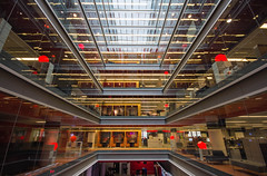 The BeeB (V Photography and Art) Tags: glass lines architecture modern composition radio lights tv shadows view interior perspective wideangle symmetry pointofview bbc britishbroadcastingcorporation veeste vphotographyandart broadcastionhouse