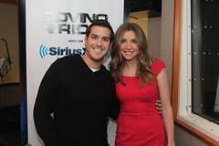 Sarah Chalke on the Covino & Rich Show (covinoandrich) Tags: show sarah radio satellite rich abc scrubs chalke siriusxm covino