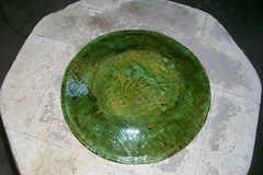 Sappy Copper Green Walnut Heart Platter back (Chipmunk Hill Arts) Tags: original art ceramics artist handmade w clay bloomingtonindiana katiewolfe chipmunkhillarts