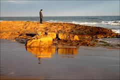 Calblanque (PequeaMims) Tags: sea espaa costa man reflection beach mar seaside spain sand rocks waves playa arena murcia 1855mm olas hombre mediterraneansea reflejos piedras calblanque marmediterraneo inspiredbylove canoneos1100d