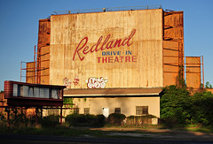 Redland Drive-In Theater - Redland,Texas (Rob Sneed) Tags: usa texas redlands redlandsdriveintheater americana texana us59 i69 driventheater vintage neon closed easttexas easttexaspineywoods sunset marquee graffiti
