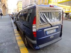 Brown tape... (stevenbrandist) Tags: street italy car italia fiat genoa genova repair maintenance temporary bodge browntape doblo cb812wz