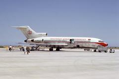 Boeing 727 at Faro, Portugal,  June 1971 (piktaker) Tags: portugal faro jet boeing algarve tap fao boeing727 jetairliner lpfr faroairport passengerairliner cstbn