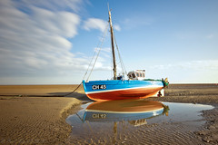Meols beach (Paul Farrell 2013) Tags: longexposure beach reflections day clear meols cloudmovement
