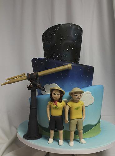 Space telescope wedding cake