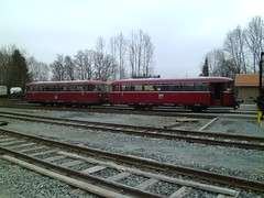 Railbus in the Yard (cessna152towser) Tags: germany ddm railwaymuseum railbus schienenbus