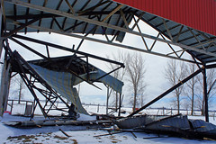 It Come Crashing Down (Roofer 1) Tags: fireworks farm collapse haybarn beyondrepair celebrationturnedbad