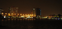 Crystal Island, Khobar (Saudi Arabia) (BlackZero_007) Tags: ocean city sea reflection water architecture night nikon asia colours gulf best east arab corniche saudi arabia arabian middle khobar 2013 d7100 sonyh20