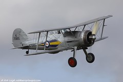 Shuttleworth Collection Training Week 2013_1906 (shuttleworthpix) Tags: flying fighter aviation airshow ww2 april warbird raf biplane gladiator 1937 aerodrome gloster robbo airdisplay royalairforce shuttleworthcollection oldwarden 2013 trainingweek robleigh gamrk k7985