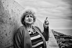 No fish today (unoforever) Tags: street people blackandwhite woman monochrome photography calle mujer gente streetphotography streetphoto fotografa burriana flickrfriday spmonochrome unoforever