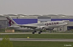 Qatar Cargo Airbus A330-243F F-WWTS (A7-AFZ) (Quentin Bonnet - AeroWorldPictures) Tags: canon eos airport cargo landing airbus toulouse beacon 100400mm a330 qatar aroport 550d toulouseblagnac a330243f a7afz