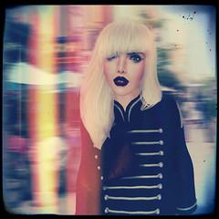 Trying Blonde Hair (Kristen Eden Westwood (Haus.of.Boobah)) Tags: life art film fashion digital photoshop vintage tooth hair artwork glamour mesh edited gap retro blonde second editing pills wasabi effect rendering