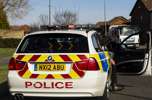 Cleveland Police RPU at a scene of a collision in Ingleby Barwick