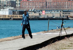 (Melissa Godbout) Tags: street toronto harbor dock dancer portlands