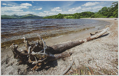 Loch Lomond (Gordon_Farquhar) Tags: blue summer west tree green beach water beautiful clouds way bay scotland glen hills highland fallen loch lomond balmaha