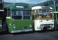 B5190D HD 792 LRU66 927 605LJ Southampton 31 Aug 70 (Dave58282) Tags: bus hantsdorset 792 lru66 927 605lj shamrockrambler