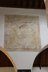 LLantwit Major, Glamorgan (Vitrearum (Allan Barton)) Tags: llantwitmajor glamorgan church medieval wallpaintings royalarms