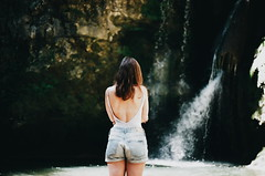 (Kathleen Vtr) Tags: girl back hair goldenlight sunshine summer beautiful life portrait beauty happiness friend holiday july analog canonae1 film photography 35mm bokeh grain lovely switzerland waterfall