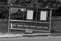 .......on the level? (paulchapmanphotos) Tags: bristol firstbus bristolcitycouncil transport bus busstop architecture port architecturalaward leica m9p summilux f14 wonky eccentric slope leaning stokehill