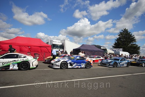 The Ginettas after their race at the BTCC 2016 Weekend at Snetterton