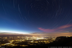 Polaris over Geneva (Ludtz) Tags: ludtz canon canoneos5dmkiii 5dmkiii 14mm 14|28 14 salve grandpiton 74 stars startrail etoiles fildtoiles nuit night genve geneva lac lman ville city lights lumires nightlights lumirenocturne ciel sky alpes alps