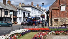 Ermintrude at Aldeburgh, returning from Thorpeness. 07 08 2016 (pnb511) Tags: aldeburgh eastanglia suffolk coastal england heritage coast vehicle singlecabbus bucklandomnibusco dennis bus coach