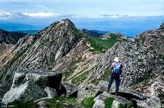 On Goatfell, Isle of Arran (Robert J Heath) Tags: scenery scenic vista panorama scotland arran island sea coast granite summit uk britain arete rocky ridge landscape fells hills mountains