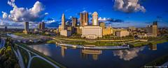 Columbus, Ohio Panorama (Brandon Townley) Tags: columbus ohio city urban architecture panoramic drone dji phantom reflection sky clouds summer