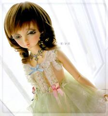 [FS] Limited Belloze Peridot Dress Set for SD~SDGr (Mia ^o^) Tags: sd sd9 sd10 sd13 sdgr delf girl dress peridot green laces socks sleeve sleeveless fashion