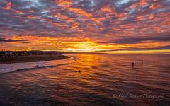 Sunrise on the water... (cbjphoto) Tags: carljackson ocean pacific photography beach california newport surfer surfing