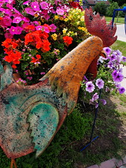 P6080793 (photos-by-sherm) Tags: good quilts retail garden flowers sculpture yard accessories amana iowa summer decorations metal