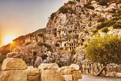 Demre  Kaya Mezarları (Myra) (Halil Sopaoğlu HN I Photography) Tags: capture rock antik antalya likya sun landscape sunset canon demrekayamezarları myra flickr