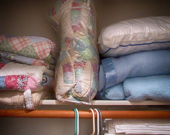 Day 267:  closet (Mark.Swanson) Tags: closet blanket bedspread pillow