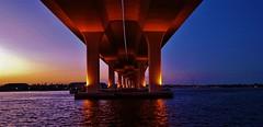 Under The Roosevelt Bridge 2016 (matthewbeziat) Tags: rooseveltbridge downtownstuart saintlucieriver southernflorida southernunitedstates southflorida sunshinestate treasurecoast florida floridabridges floridawaterways floridarivers twilight dusk unitedstatesroute1 route1