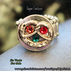Bague Swarovki 3 (Mystic Art *) Tags: bague ring paillettes glitter bijoux jewerly swarovski magic