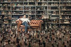 Ral, der Masslose / Ral, the gluttonous (Fabi Art) Tags: alcohol alkohol drink grappa rum schnaps todsnde versuchung vllerei whisky gluttony fun humor sin